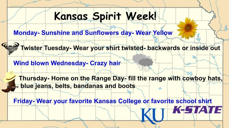 Kansas Day Spirit Week Flyer