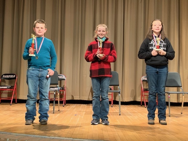 3rd-6th Grade Spelling Bee winners