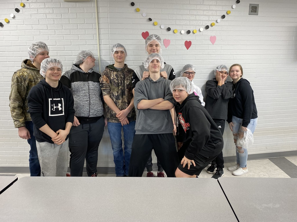 2nd hour showing off their cool hairnets