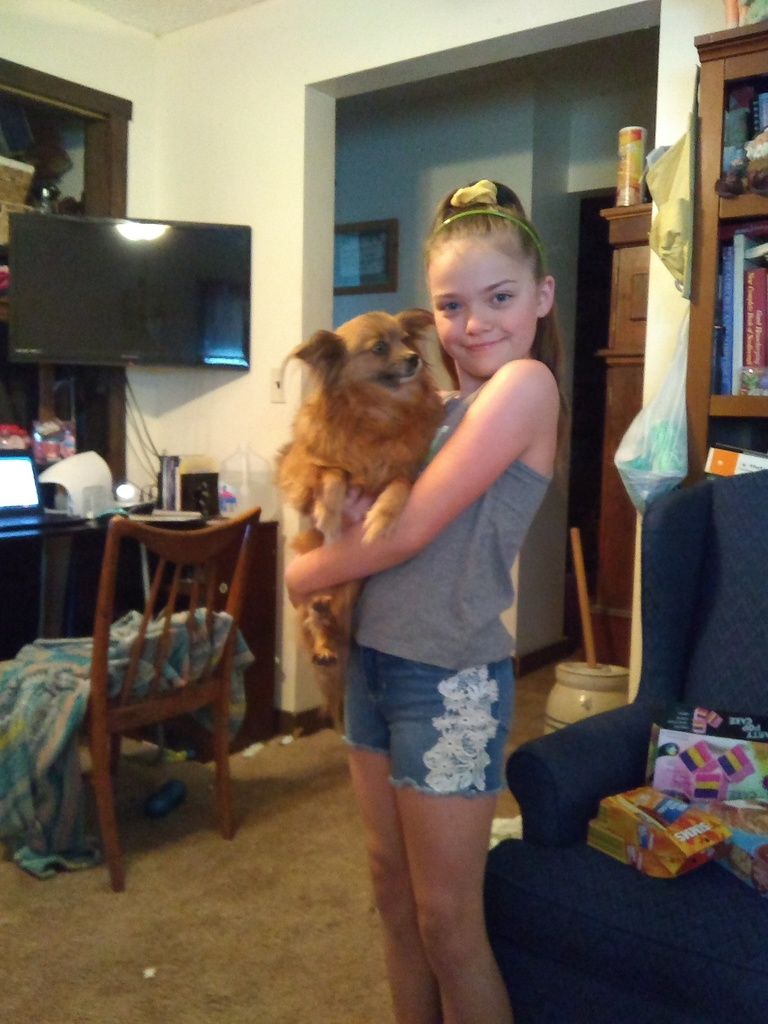 Haylie and her dog